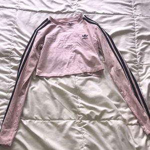 Adidas crop top long sleeve
